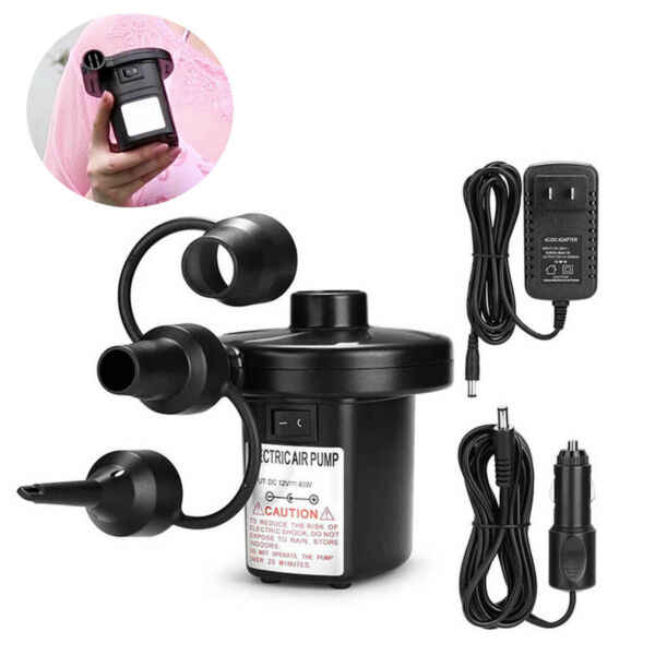Electric Air Pump For Swimming Ring Pools Inflatables Deflator Home Car Adapter $17.99