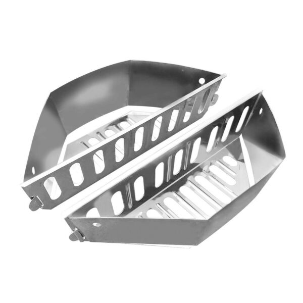 GRILLVANA Stainless Steel Charcoal Basket BBQ Grilling Accessories for Grill...