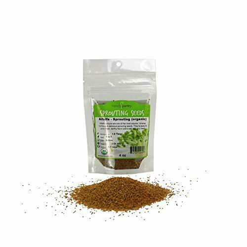 Handy Pantry Organic Alfalfa Sprouting Seed 4 Oz Brand High Sprout Germinat