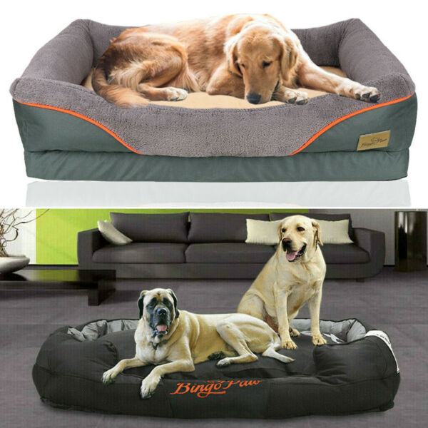 Jumbo Plus Dog Beds Orthopedic Extra Large Thicken Form Waterproof Pet Bed Cover $83.91