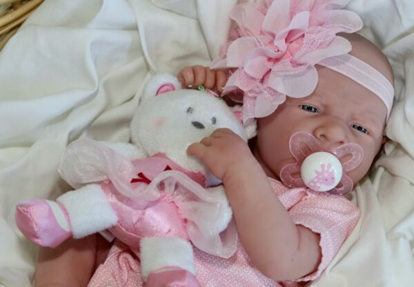 AWW! It's Baby GIRL! Berenguer Life Like Reborn Preemie Pacifier Doll +Extras