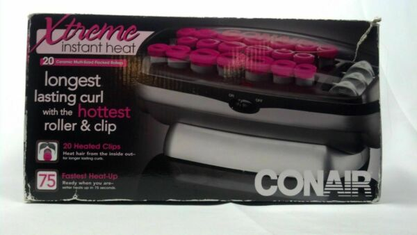 New Conair Xtreme Instant Heat 20 Ceramic Flocked Rollers 20 Heated Clips $29.95