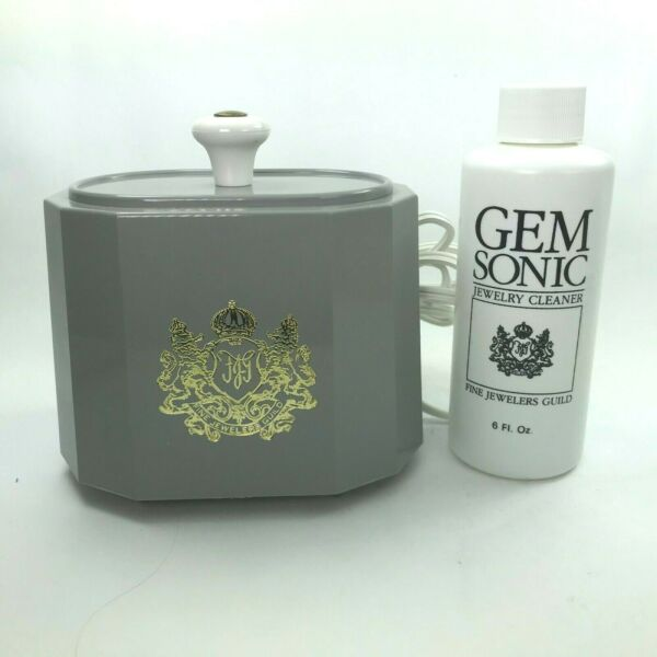 Vintage Deluxe GEM SONIC Electric Jewelry Cleaner Ultra Sound W Concentrate Nw3 $41.99