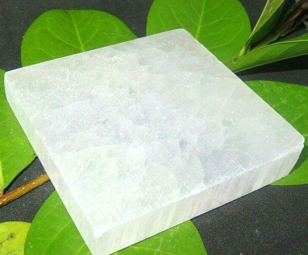 1 PC Selenite quot;Chargingquot; Plate Flat Natural Crystal Display Reiki Polished $13.99