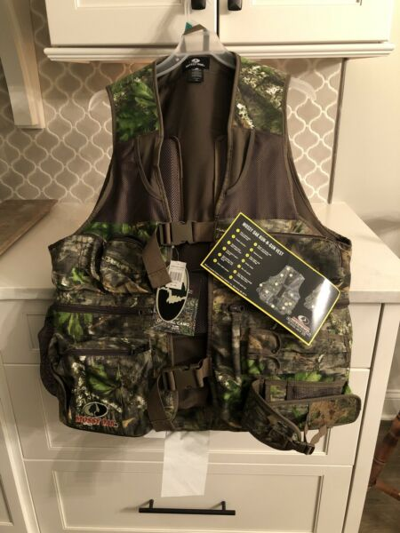Mossy Oak Run n Gun Turkey Vest w Seat Cushion Blaze Flag XL 2XL NEW