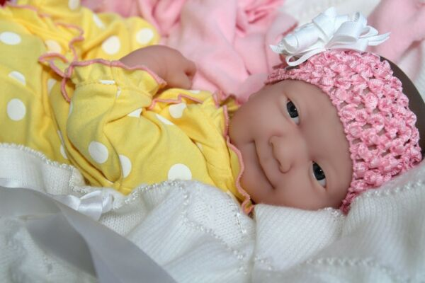 BUTTERFLY KISSES! Berenguer Life Like Reborn Preemie Pacifier Doll + Extras