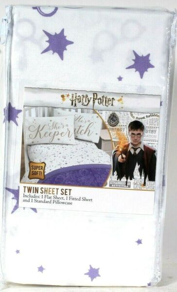 Jay Franco & Sons Inc Harry Potter Twin Sheet Set Flat & Fitted Sheet Pillowcase