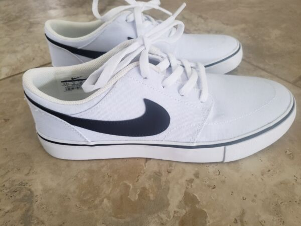 Nike SB Check Skateboard Athletic Sneaker Shoe Size 5.5 White Black