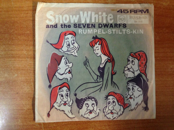 Vintage Kids 7quot; single Snow White amp; the Seven Dwarves Rumpel Stilts Kin 45RPM