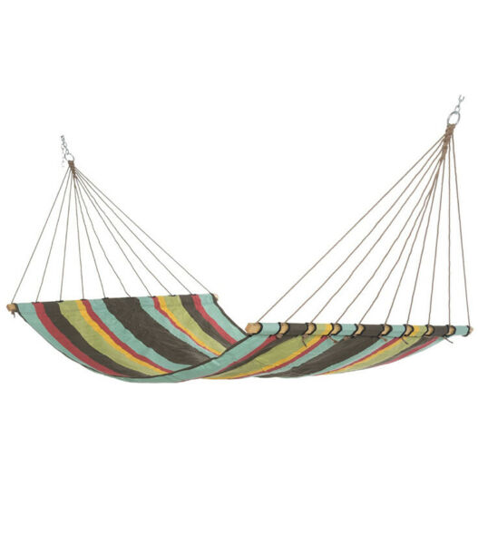 Castaway Hammocks 13 ft. Large Multicolor Stripe Quick Dry Fabric Hammock $49.99