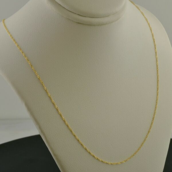 10K YELLOW GOLD .7mm SINGAPORE 18 OR 20 INCH PENDANT CHAIN NECKLACE