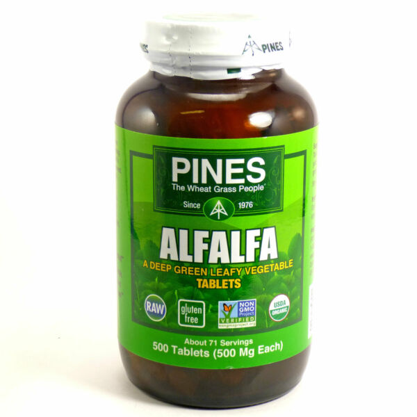 Alfalfa Tablets by Pines International - 500 Tablets