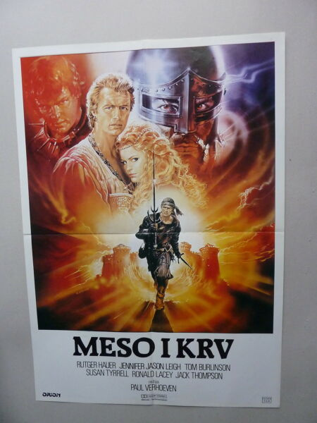 FLESH+BLOOD  PAUL VERHOEVEN (1985USA) ORIGINAL YUGOSLAVIAN MOVIE POSTER