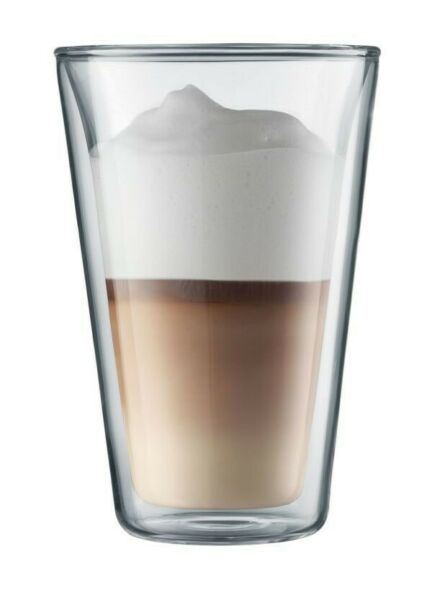 New Bodum Canteen Large Double Wall 13.5oz Glasses Set of Six $49.95