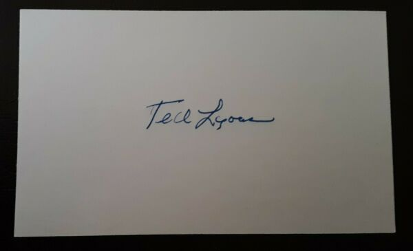 Ted Lyons Autographed Signed Index Card Chicago White Sox