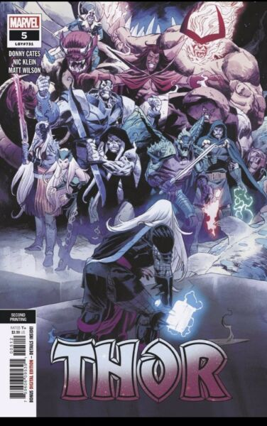 THOR #5 2ND PRINT BLACK WINTER CATES 72920 NMINT