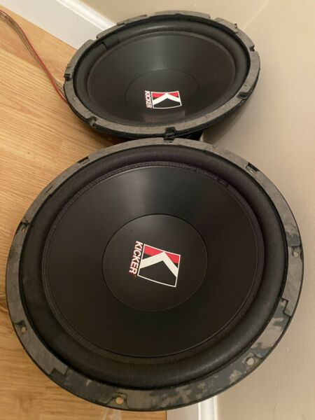 PAIR Kicker Comp Subs Competition C12a OLD SCHOOL 4ohm Subwoofer Extended Pole !