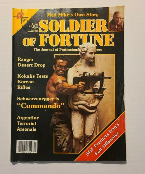 November 1985 Soldier of Fortune Magazine with Arnold Schwarzenegger cover
