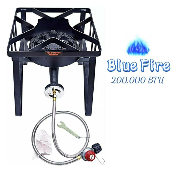 200000 BTU Outdoor Propane Gas Burner Stove High Pressure Cast Iron Stove