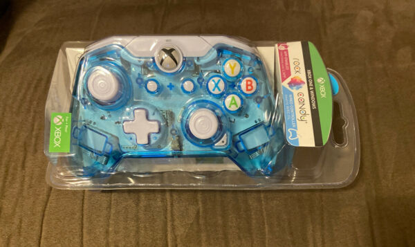 Official PDP Rock Candy Wired Microsoft Xbox One Blue Controller Brand New $29.99