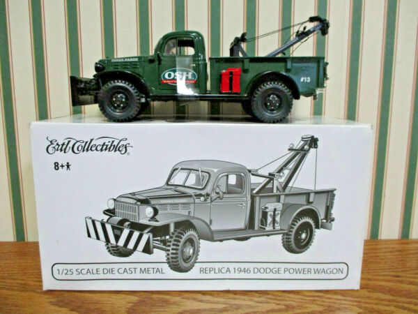 Orchard Supply Hardware 1946 Dodge Power Wagon Tow Truck By Ertl 1/25th Scale