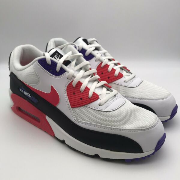 Nike Air Max 90 Essential Raptors Men's Running Shoes Size 13 Red Purple New