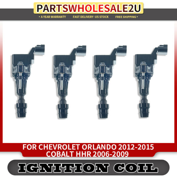 4x Ignition Coil Pack for Buick Chevrolet GMC Pontiac Saab Saturn Fisker UF-491