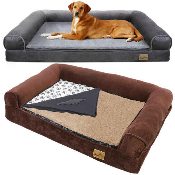 XL L M Orthopaedic Pet Dog Sofa Chair Seat House Bed Thick Mattress Hardwearing $69.91