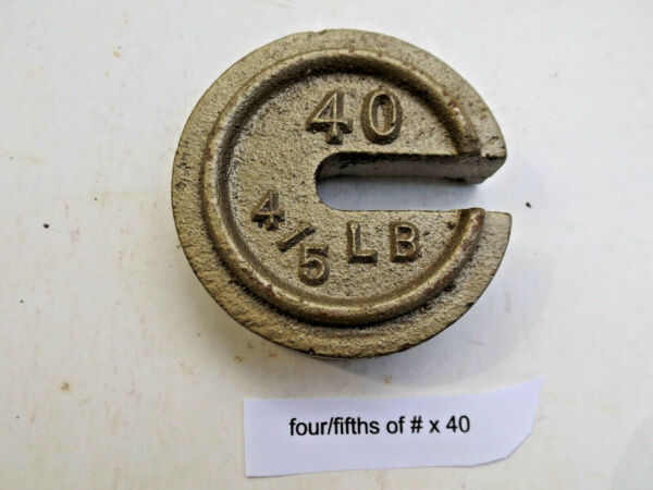 COUNTERPOISE WEIGHTS FOR ANTIQUE SCALES