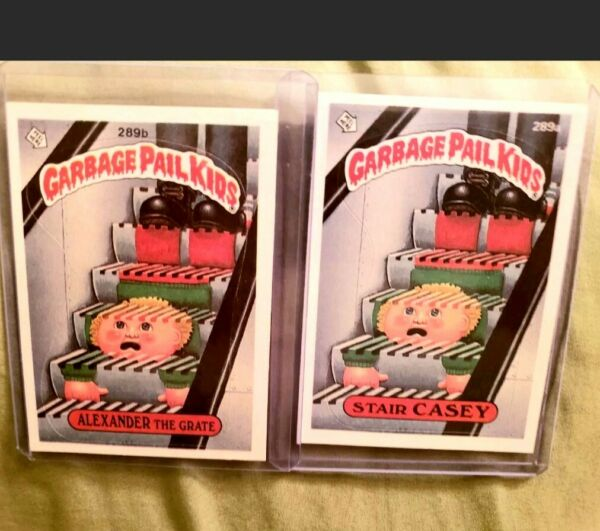 1987 Garbage Pail Kid Cards #289a b ALEX The Grate Stair CASEY Bamp;W Numbers MINT