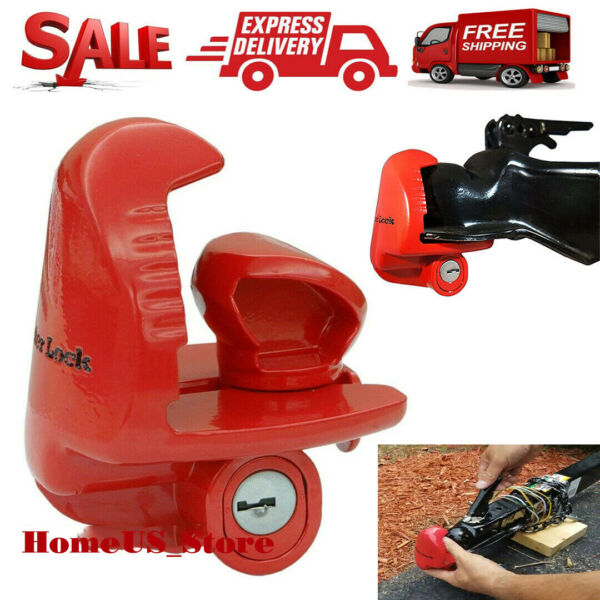 Lock For Trailer Tongue Coupler Hitch Security Anti Theft Cop Set Coupling Tow $29.99