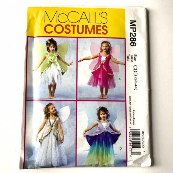 McCall's Fairy Angel Costumes With Wings Pattern MP286 Size 2 5 New $7.00