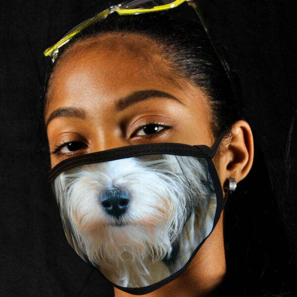 Havanese FACE MASK Dog Breed Face Covering Reusable Made In USA $12.95
