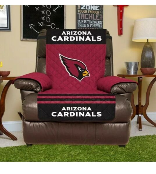 "Arizona Cardinals NFL Reversible Furniture Protector For Recliner 80""x65"" $30.00"