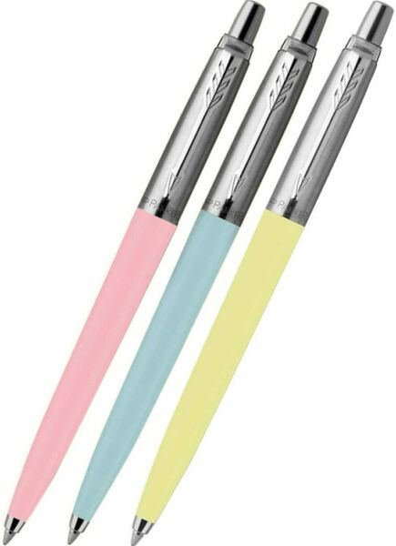 Parker Jotter Pastel Blue Pink amp; Yellow Trio Pen Set Special Edition NEW