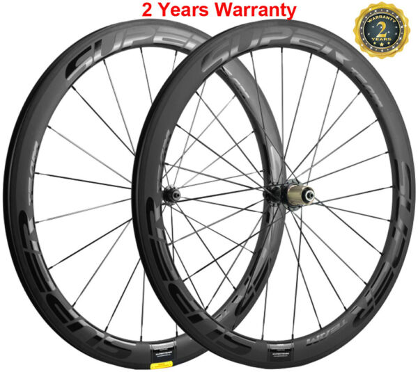 UCI Approved 50mm Carbon Wheels Road Bike 25mm Clincher Bicycle Carbon Wheelset $402.00