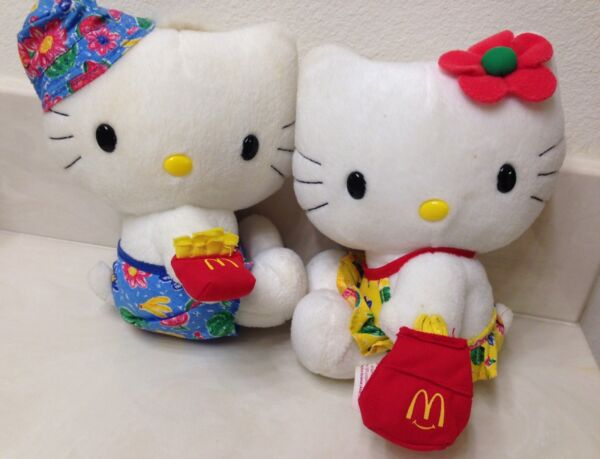 Pair Of Hello Kitty Plush Dolls - Swimming Suits