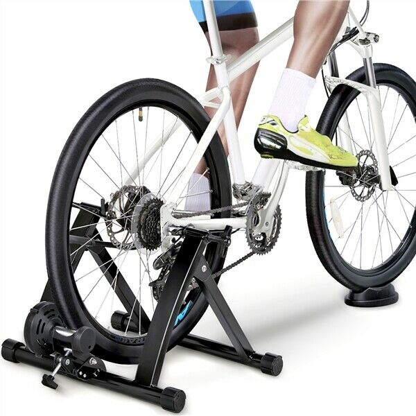 Magnetic Bike Trainer Stand Premium Steel Bike Bicycle Indoor Exercise Black $66.39