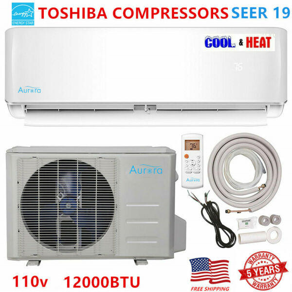 12000 BTU Ductless AC Mini Split Air Conditioner and Heat Pump 19 SEER 110 V $788.98
