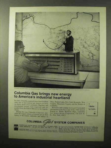 1964 Columbia Gas System Companies Ad New Energy $16.99