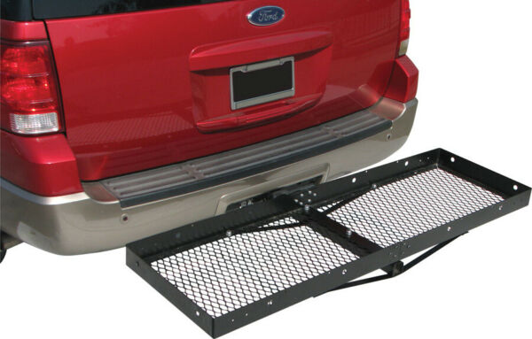 Hitch Mounted Cargo Carrier Luggage Basket Trailer Receiver Rack Truck SUV 2quot;Rec $69.99