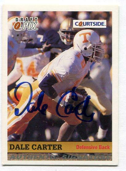 Dale Carter 1992 Courtside Certified AUTOGRAPH (TENNESSEE VOLUNTEERS - VOLS)