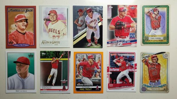 Mike Trout Singles - YOU PICK - 2013-2020 - Cards Parallels Inserts Coin Cap $5.00