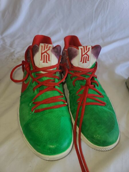 Nike Kyrie 3 ID Trial Sample Sz US 12 UK 11 EUR 46 Red Green Purple RARE UNIQUE