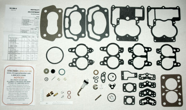 1957 58 OLDSMOBILE J2 TRI POWER ROCHESTER 2BARREL CARB KITS amp; FLOATS DOES 3CARBS $114.95