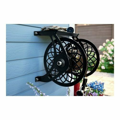Garden Hose Reel Holder Water Retractable Wall Mounted Storage Caddy Roller New $141.95