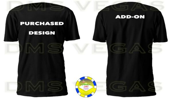 Add On Back Of The Shirt S 5XL