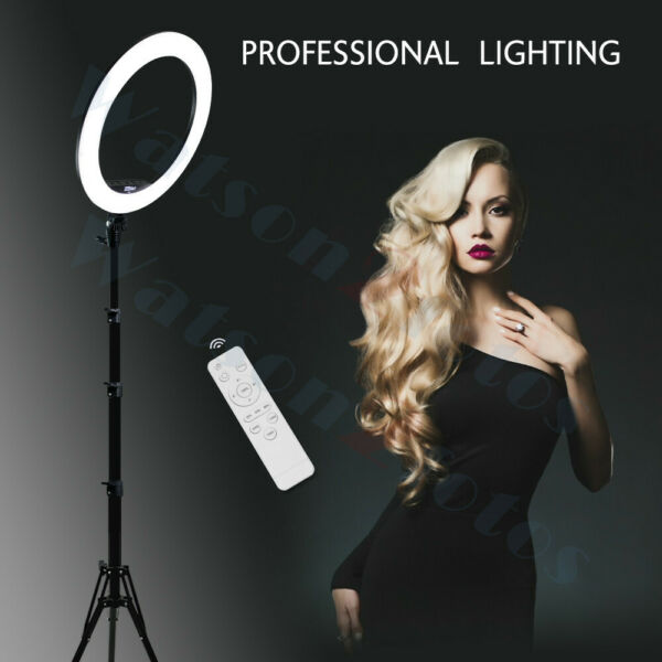 LED SMD Ring Light Kit with Stand Dimmable 5500K for Makeup Phone Camera 14 19#x27;#x27;