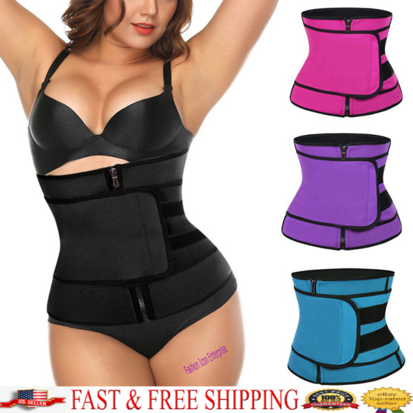 Waist Trainer Neoprene Fajas Reductoras Colombianas Body Shaper Sauna Sweat Belt