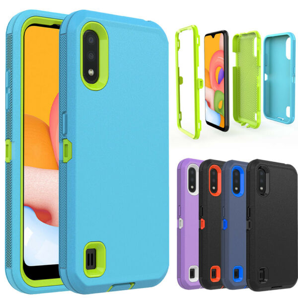 For Samsung Galaxy A01 A10e A20 A11 A21 Hybrid Armor Shockproof PHone Case Cover
